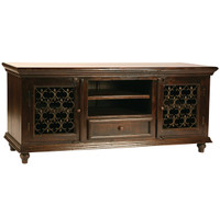 Santa Fe Dark Solid Wood TV Console Cabinet