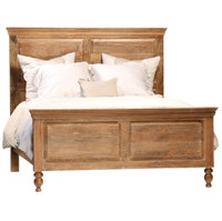 Lucca Light Wood California King Panel Bed