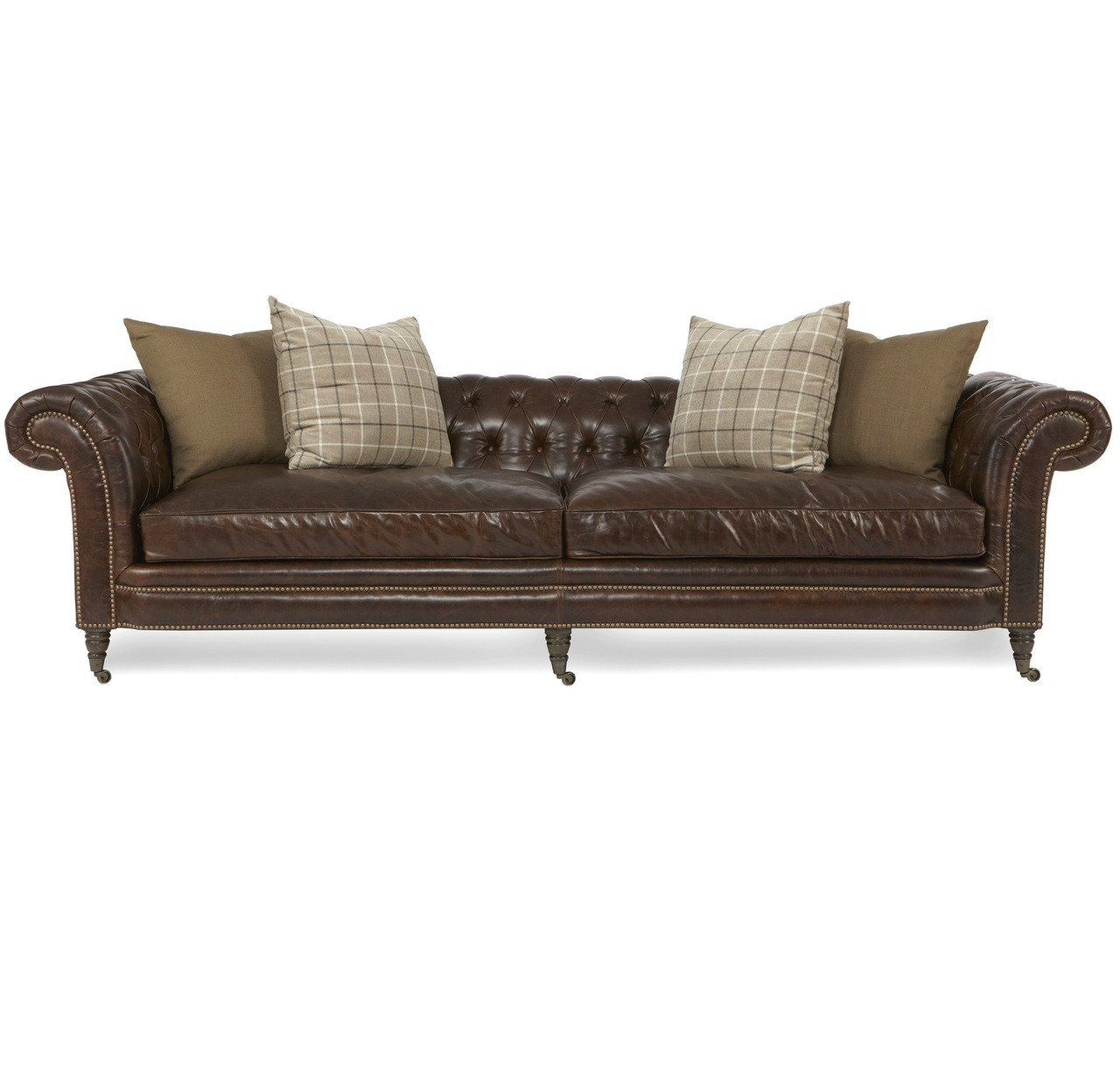 Lauren Cigar Club Tufted Leather Chesterfield Sofa With Nailhead ...