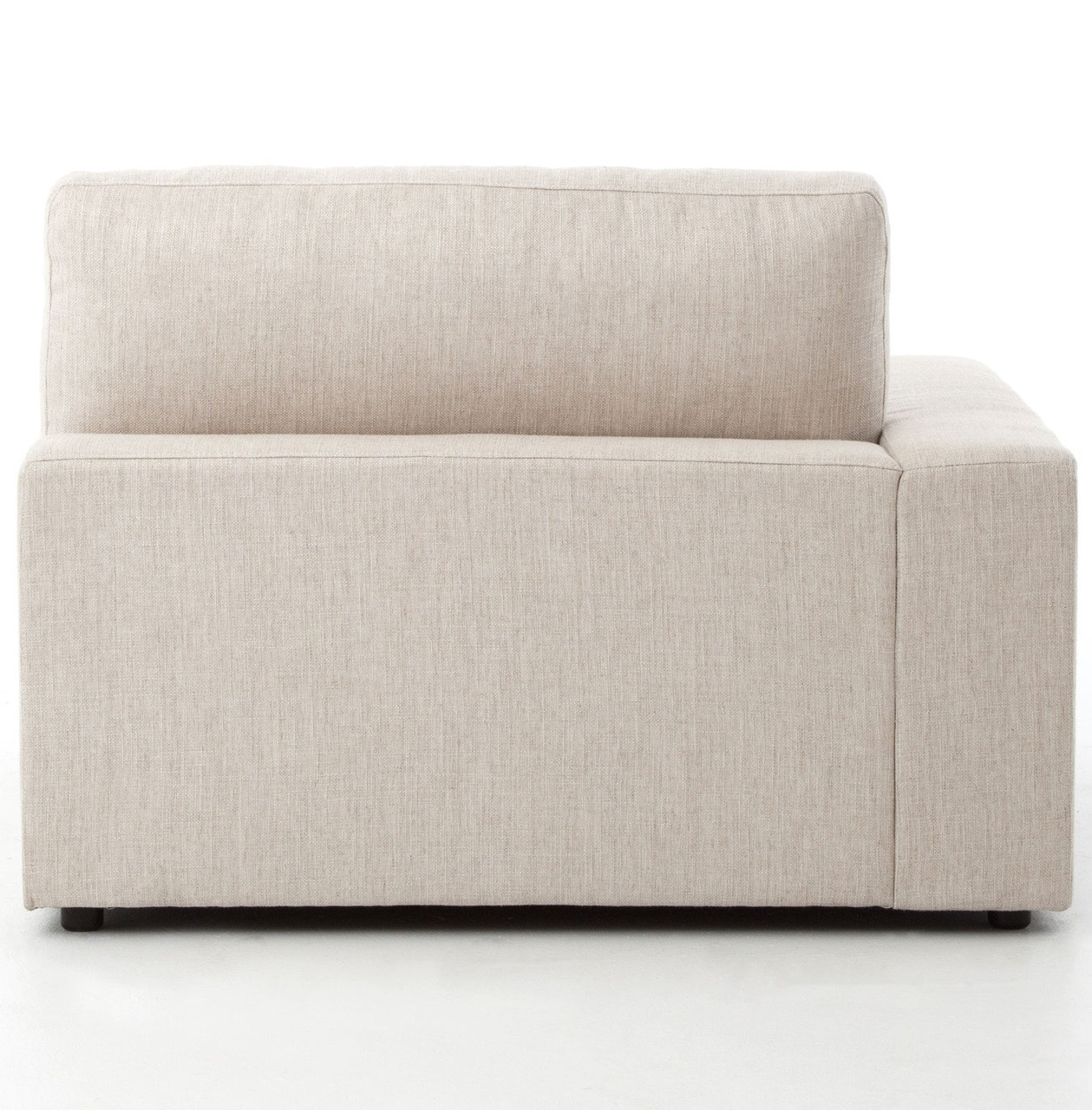 Small Modern Sectional Sofa: Bloor Beige Contemporary 3 Piece Small Sectional Sofa