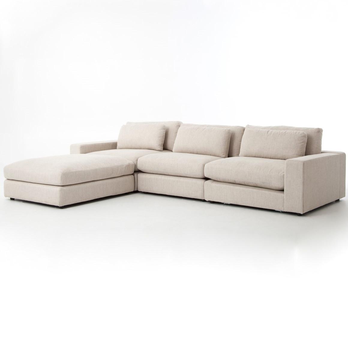 Bloor Beige Contemporary 4 Piece Sectional Sofa Zin Home