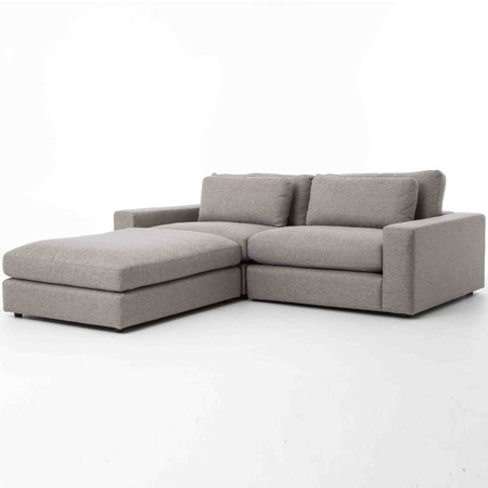 bloor gray 3 piece small sectional sofa - Small Sectional Couch