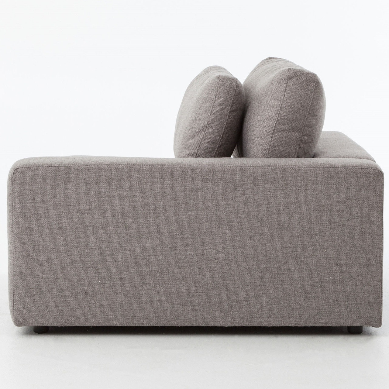 Small Modern Sectional Sofa: Bloor Gray Contemporary 3 Piece Small Sectional Sofa