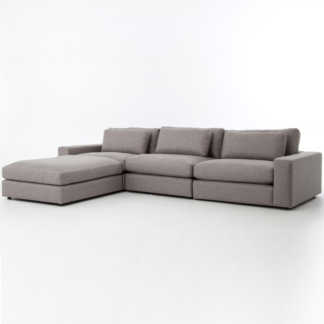Bloor Gray Contemporary 4 Piece Sectional Sofa Zin Home