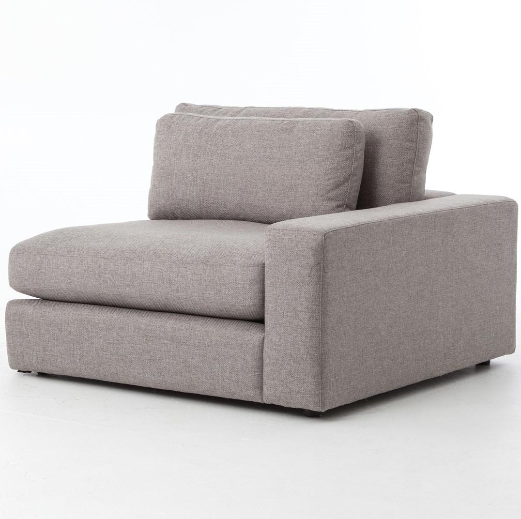 Modular Sectional Sofa Small Spaces: Bloor Gray Contemporary 5 Piece Corner Sectional Sofa