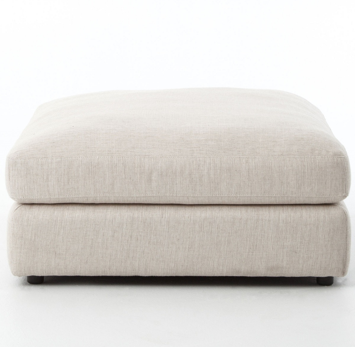 Bloor Contemporary Beige Upholstered Ottoman