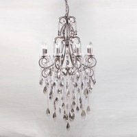 Charlotte Smoked Crystal 8 Light Chandelier