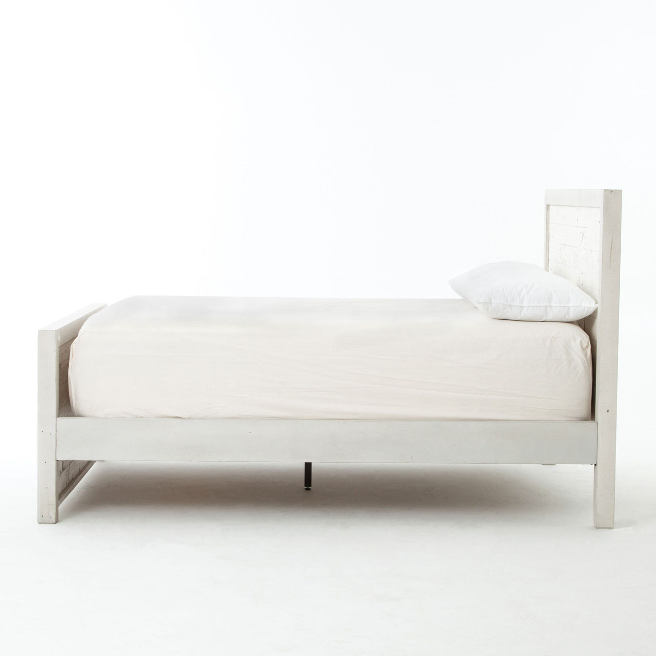 ... Caminito Rustic White Reclaimed Wood King Platform Bed ... - Caminito White Reclaimed Wood King Platform Bed Zin Home