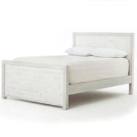Caminito White Reclaimed Wood King Platform Bed