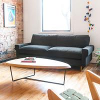 Gus Modern Garrison Sofa with two Cushions-Oxford Zinc