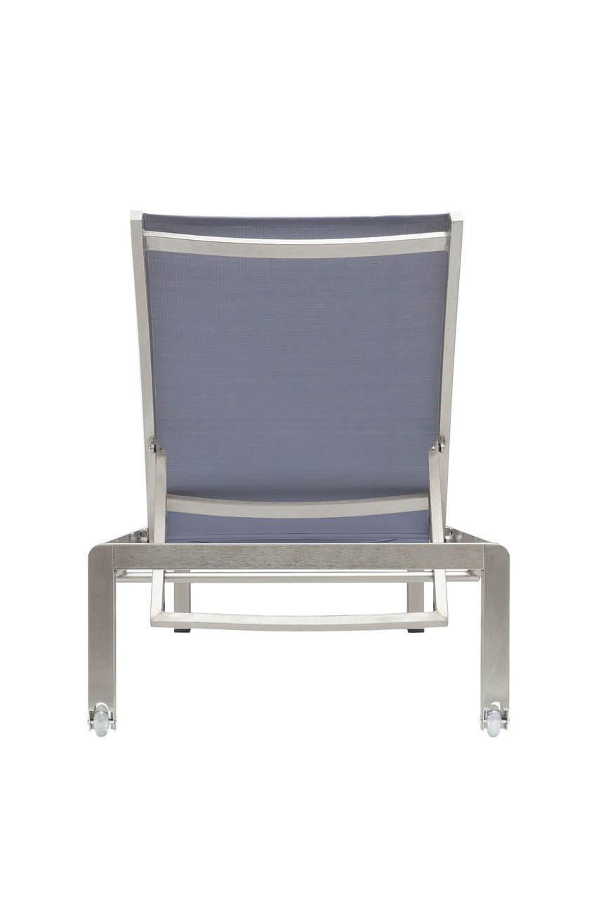 Blue m200 outdoor chaise lounge zin home for Blue outdoor chaise lounge