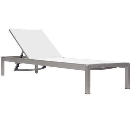 White Modern Outdoor Chaise Lounge Zin Home