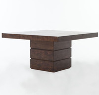 "Angora 58"" Square Dining Table-Acorn"