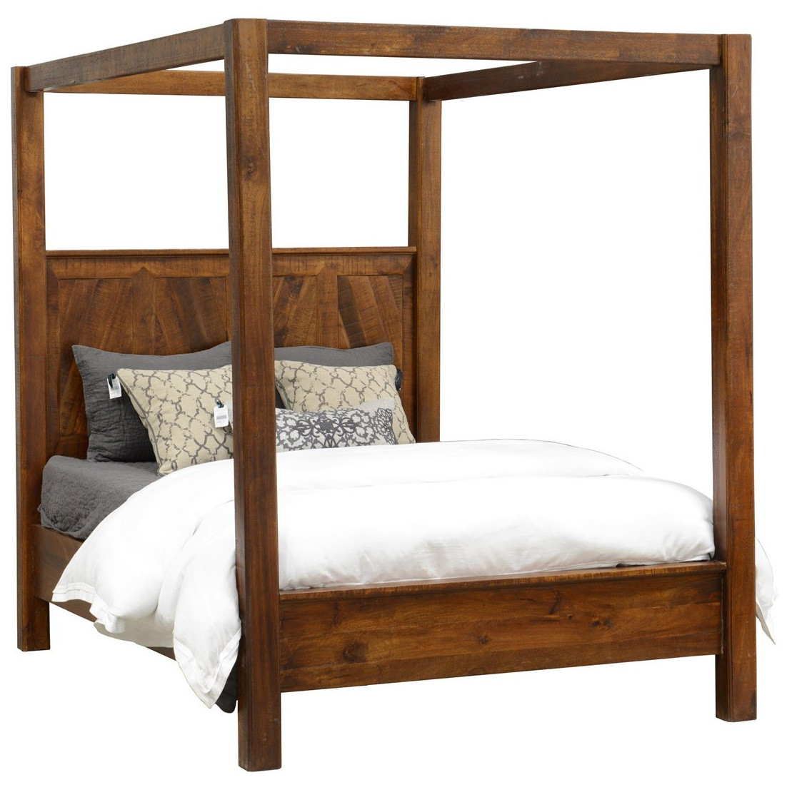 kosas queen wood canopy bed - Wooden Canopy Bed Frame