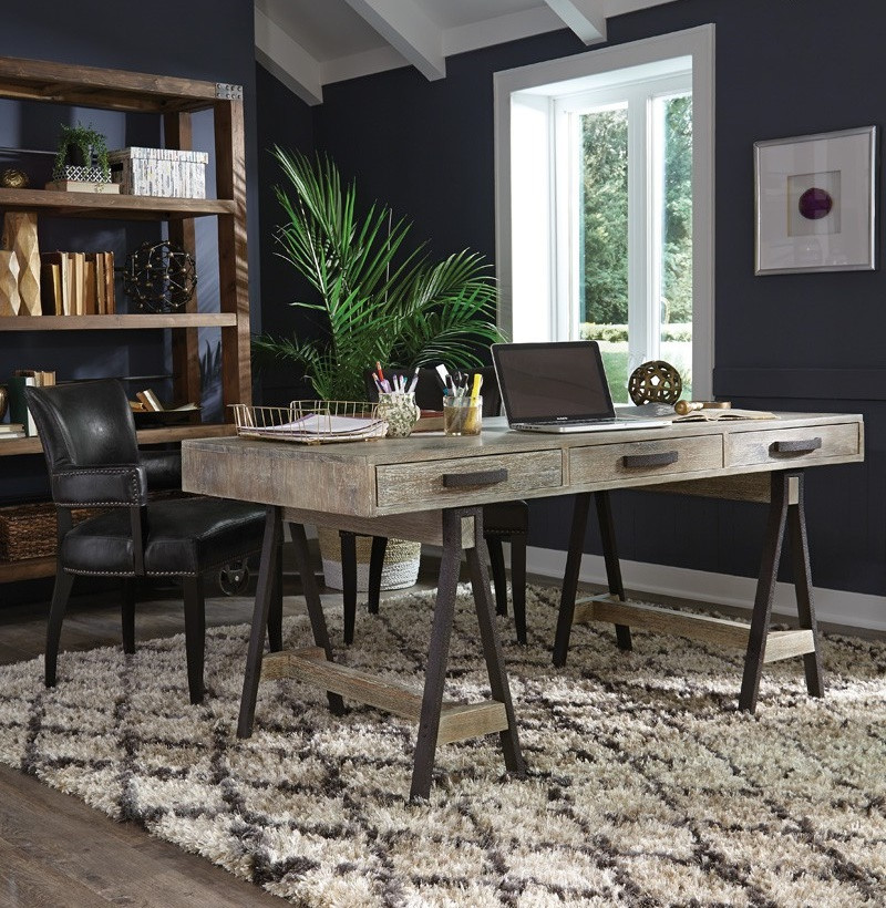 Reclaimed Wood Rustic Home Office: Juliana Sawhorse Reclaimed Wood Desk