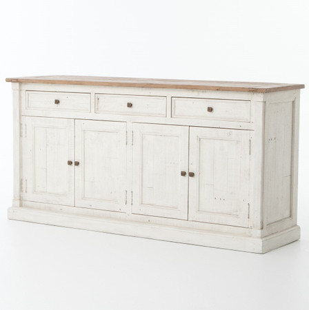 Cintra Reclaimed Wood White Sideboard Buffet Zin Home