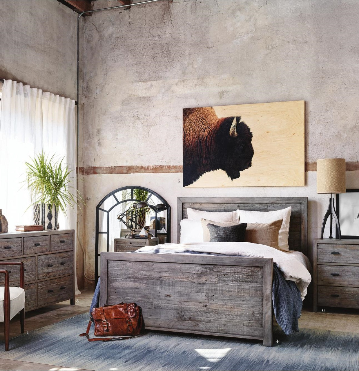 Caminito Grey Reclaimed Wood King Panel Bed Zin Home