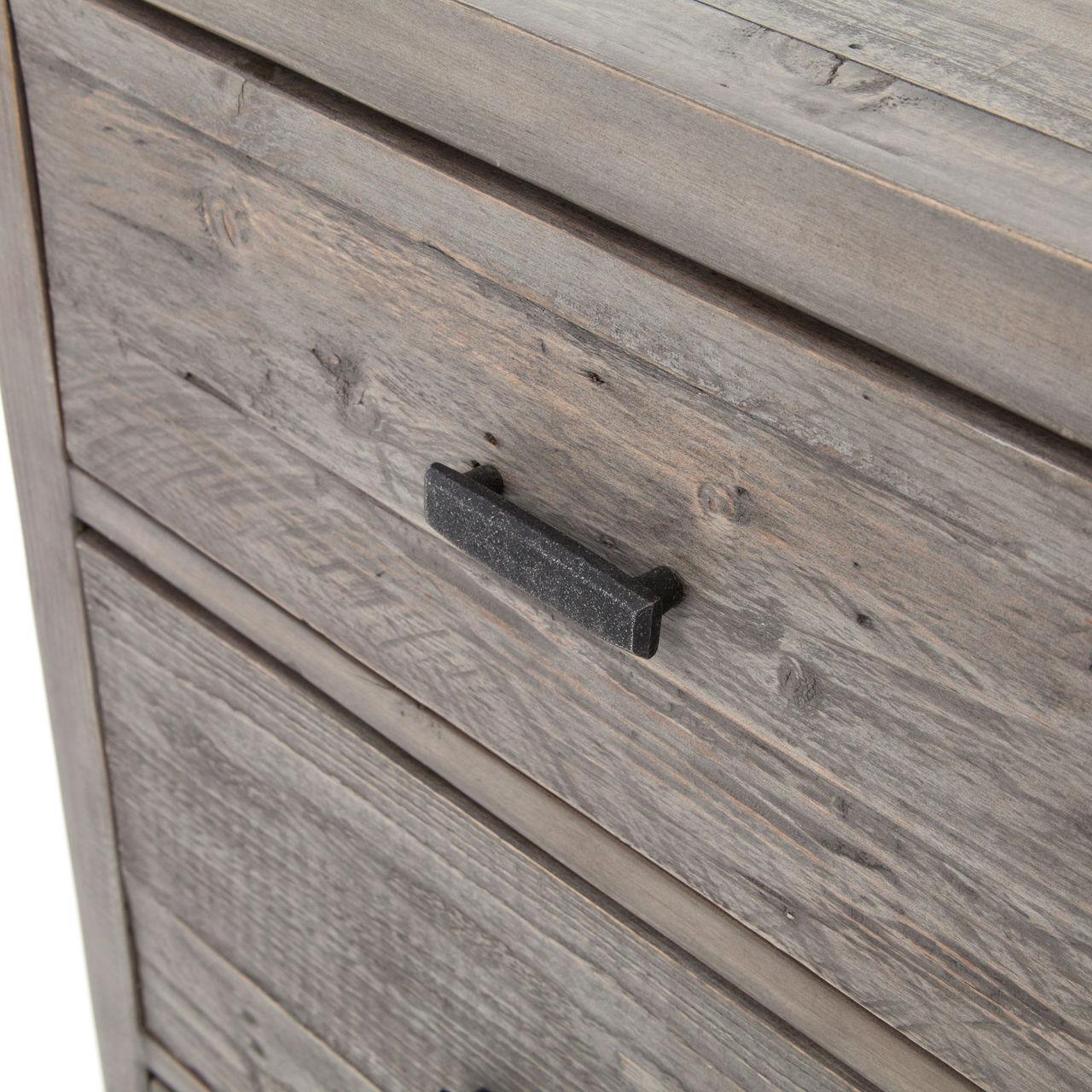 Caminito Grey Reclaimed Wood 7 Drawer Dresser Zin Home