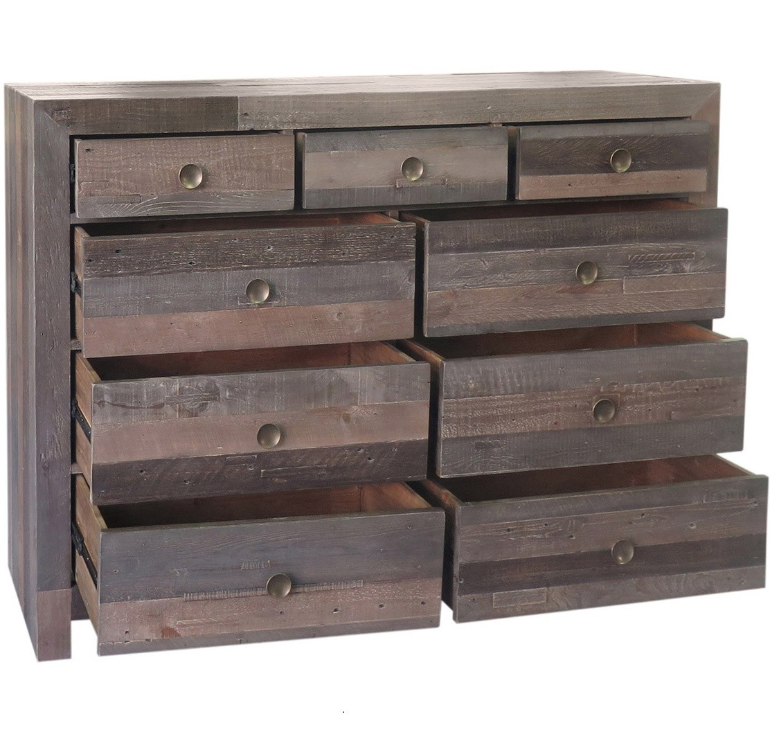 ... Reclaimed Wood 9 Drawer Dresser-Bedroom; Omni 9 Drawer Dresser Storm ... - Angora Storm Reclaimed Wood 9 Drawer Dresser Zin Home