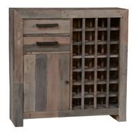 Omni Angora Storm Reclaimed Wood Wine Cabinet