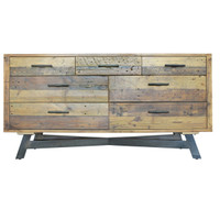 farmhouse 7 drawer reclaimed wood dresser