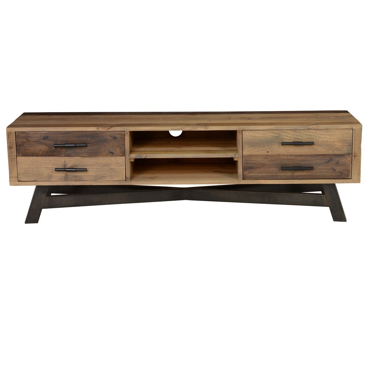 Farmhouse Reclaimed Wood Rustic Tv Media Console Zin Home