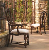 Universal Spanish Furniture Bolero Dining Arm Chair, Walnut