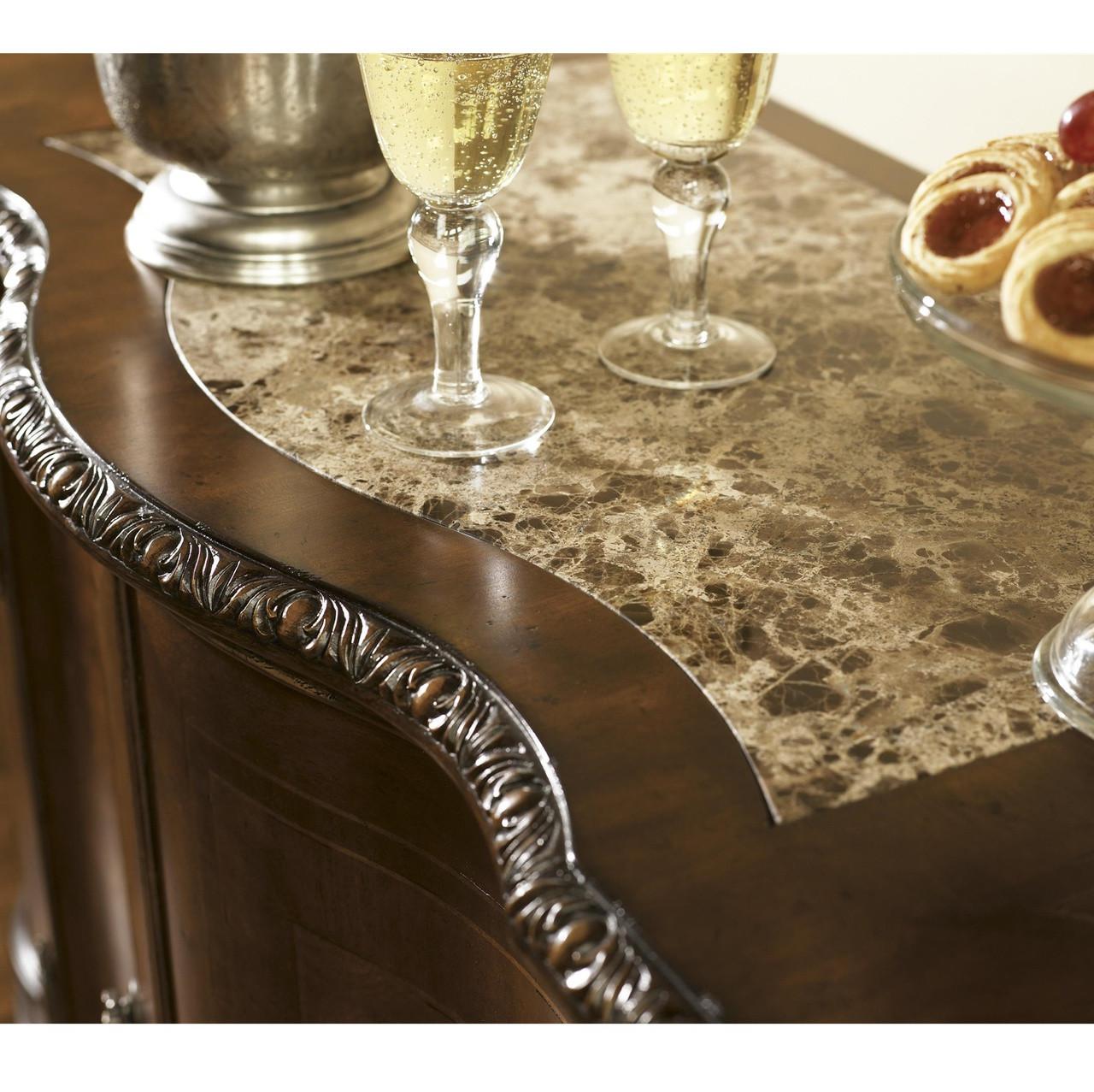 universal bolero castile credenza spanish style furniture marble top credenza - Wine Credenza