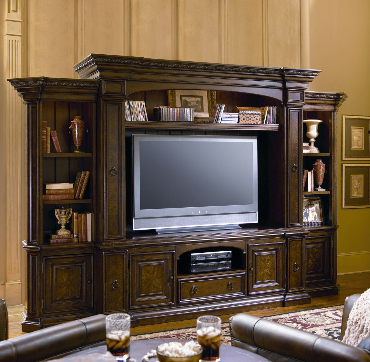 Home Entertainment Wall Units bolero tv entertainment wall unit | zin home