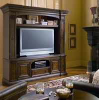 Universal Spanish Style Furniture, Bolero TV Entertainment Center with Hutch