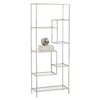 Worchester Silver Leaf Display Etagere