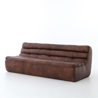 Magna Antique Whiskey English Leather Sofa