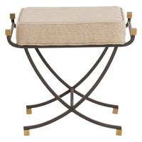 Felice Vintage Brass Accented Small Bench