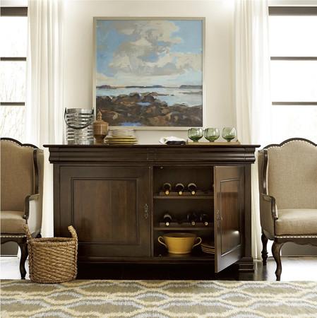 Sonoma Vintage Brown 2 Door Credenza Buffet Zin Home