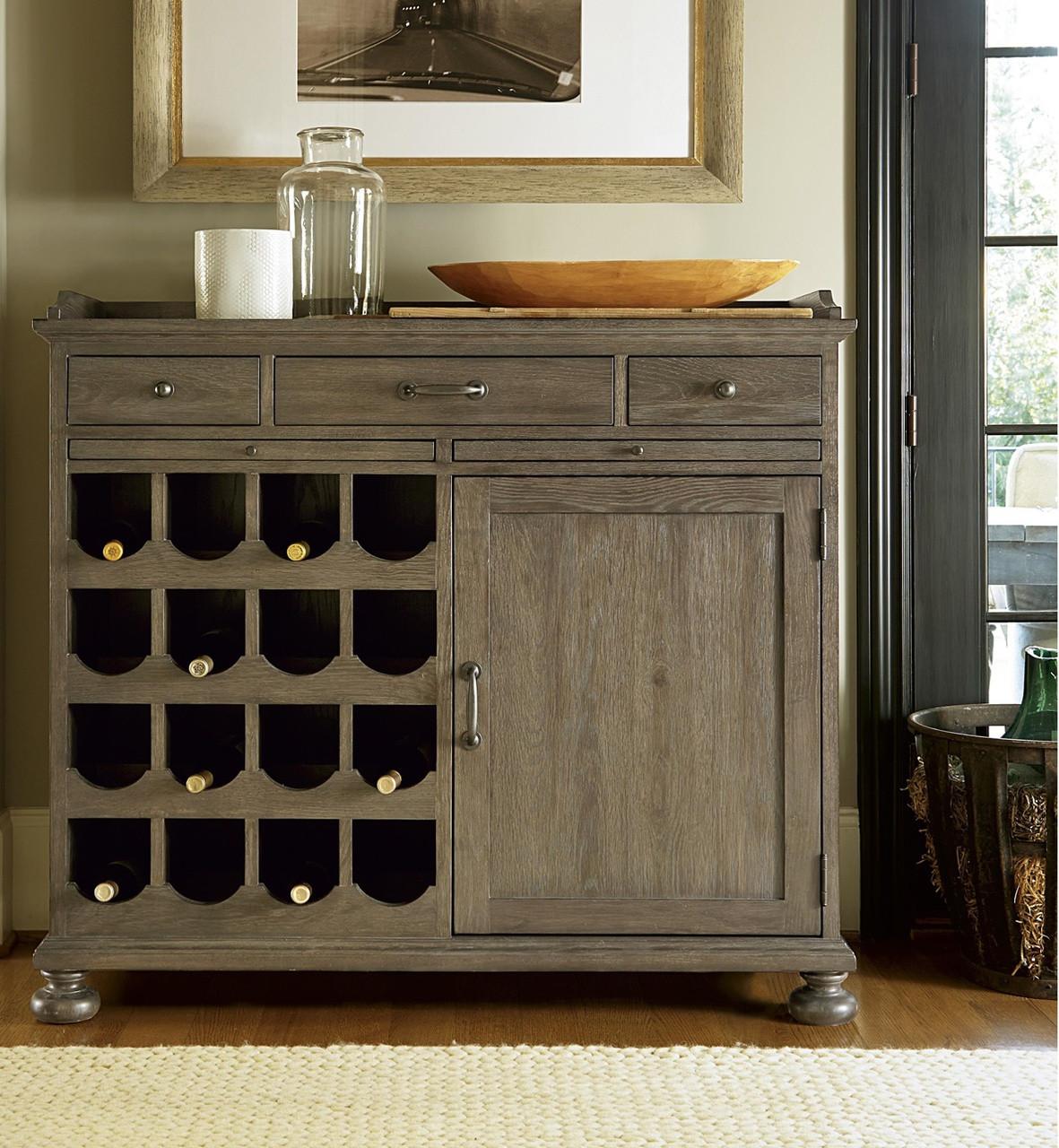 Weathered Oak Furniture French Oak Small Wine Buffet Cabinet Zin Home