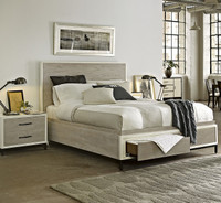 Modern Gray Platform Storage Bedroom Set King