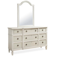 Allison Beach Cottage White Dresser with Mirror