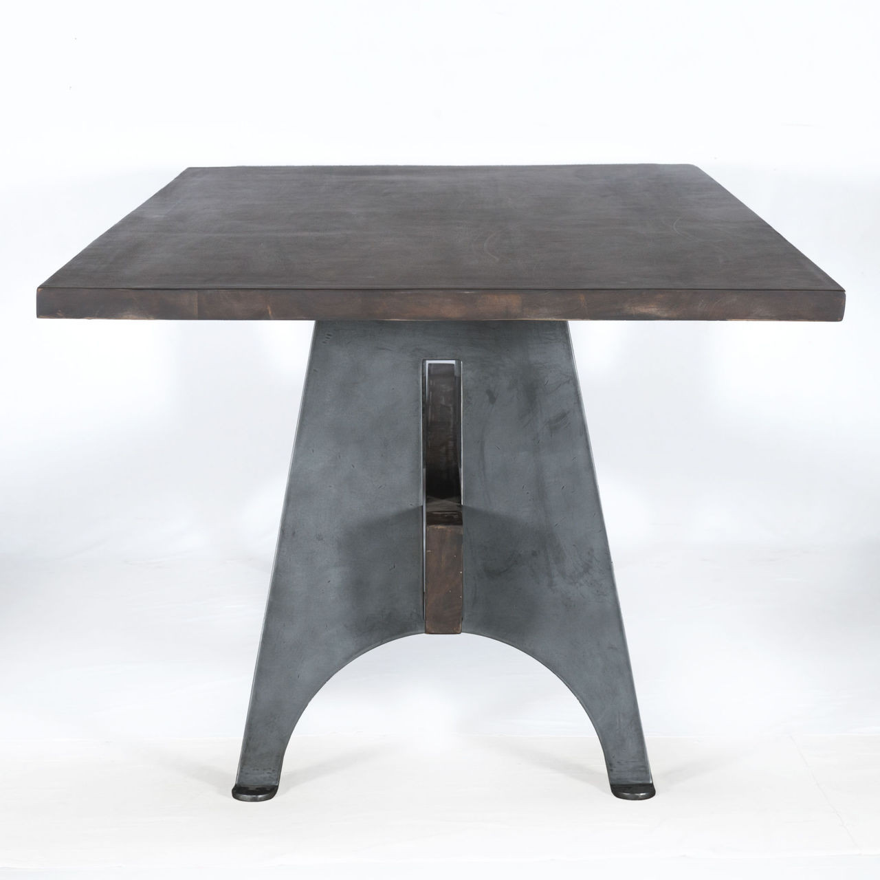 industrial mango wood metal dining table zin home. Black Bedroom Furniture Sets. Home Design Ideas