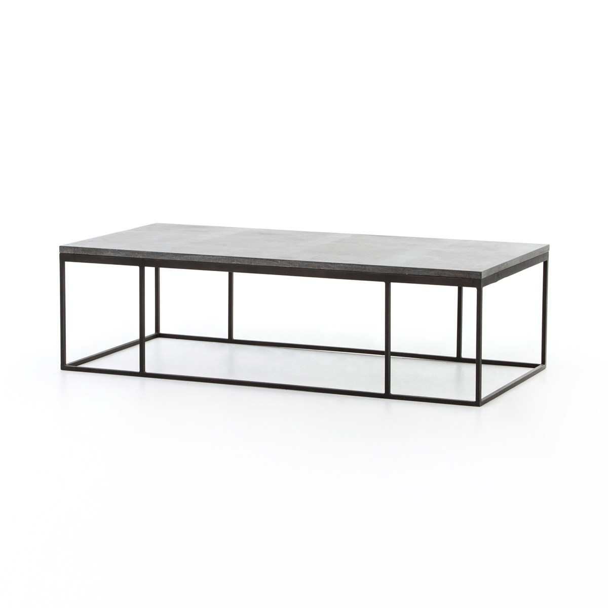 Iron Coffee Tables French Industrial Iron Bluestone Top Coffee Table Zin Home