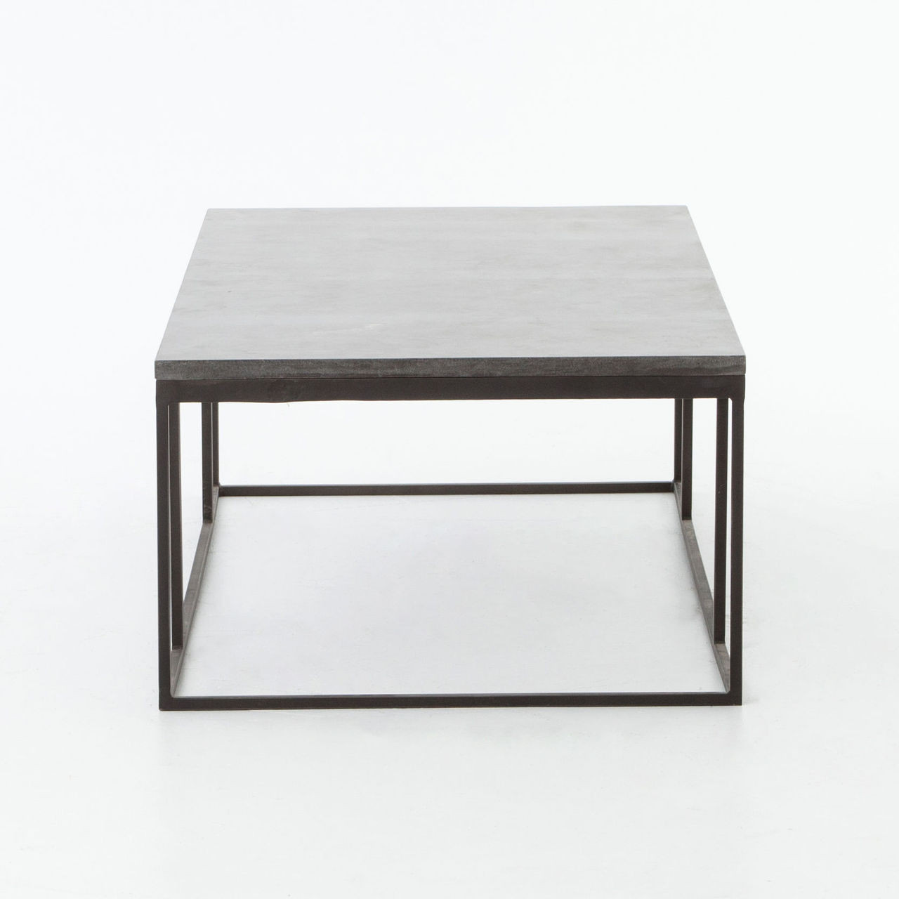 ... French Industrial Iron + Bluestone Top Coffee Tables ... - French Industrial Iron + Bluestone Top Coffee Table Zin Home