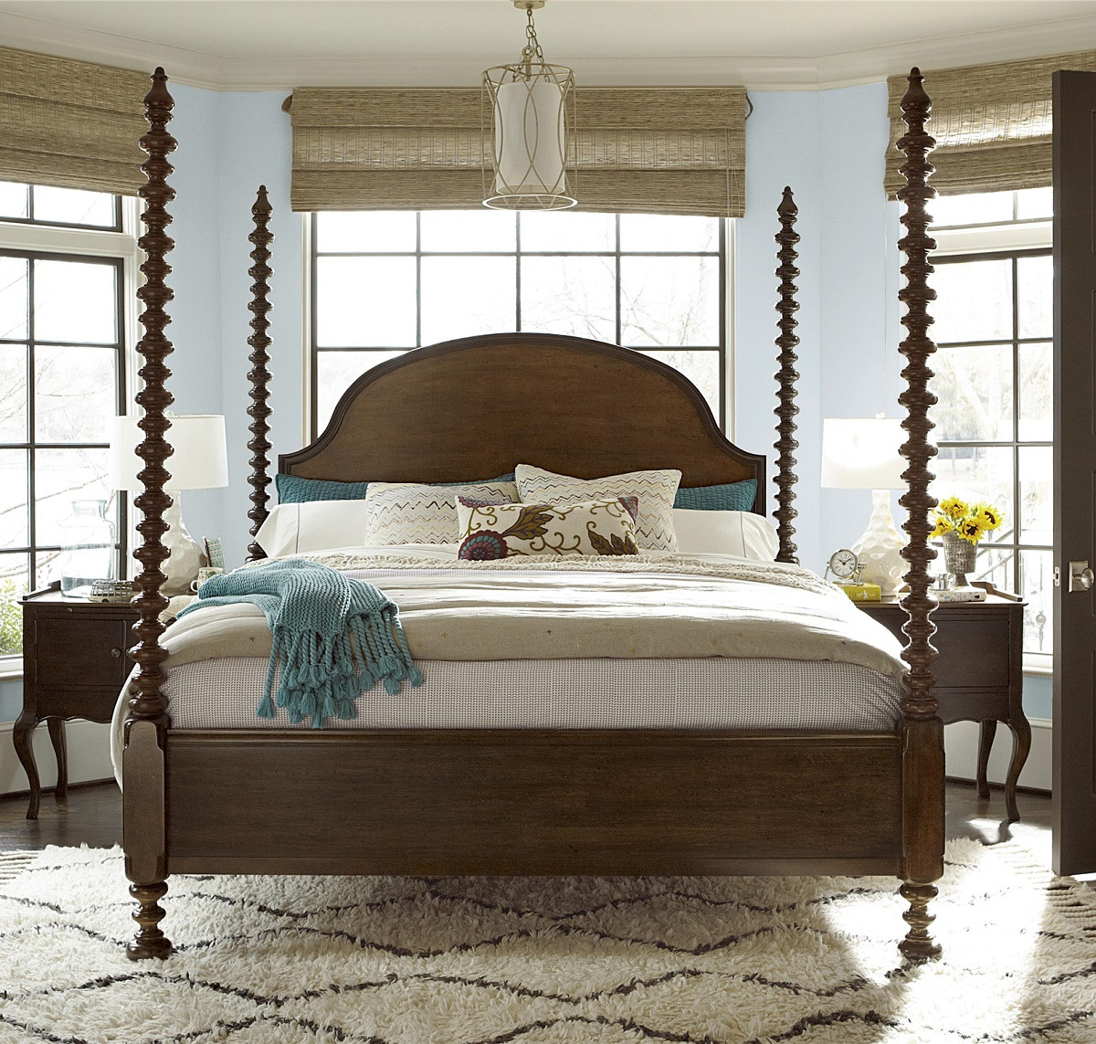 four poster bedroom sets sonoma four poster king bedroom set zin home 15274
