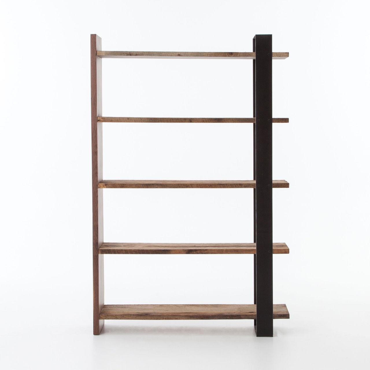 Anderson Industrial Rustic Oak Wood and Metal Bookcase | Zin Home