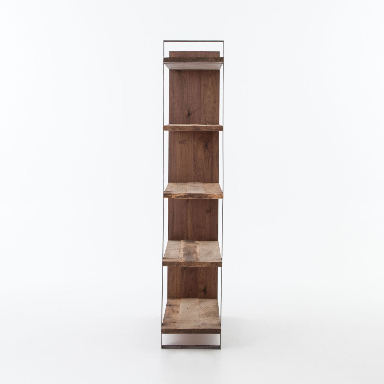 Anderson Industrial Rustic Oak Wood and Metal Bookcase ...