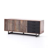 Anderson Industrial Rustic Oak Wood and Metal Sideboard Buffet