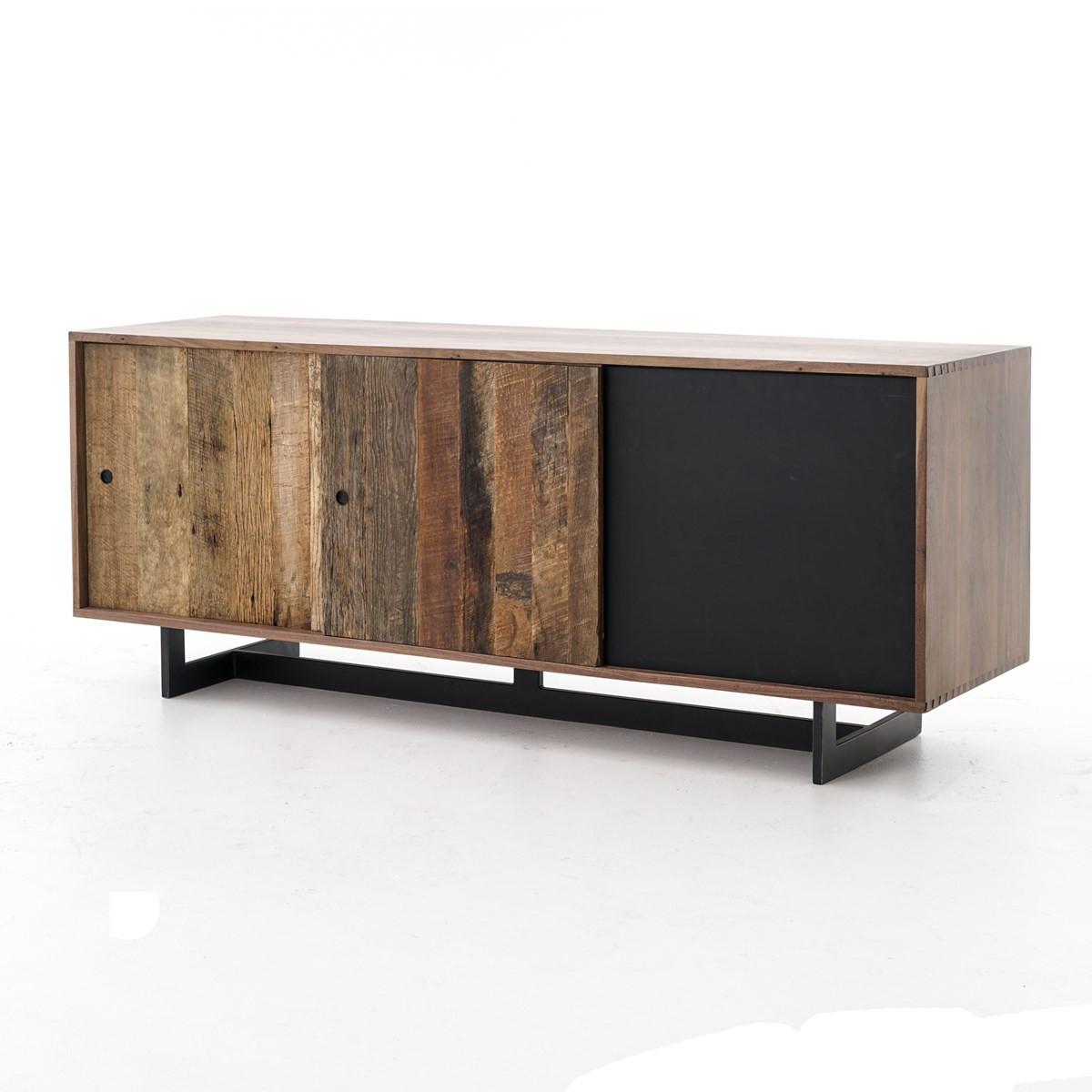 Anderson Industrial Rustic Oak Wood And Metal Media