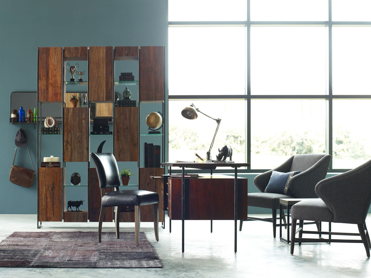 Industrial Wall Mirror catlin industrial entryway wall mirror with reclaimed wood shelf