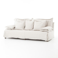 Esquire Bellevue's 7' Linen Upholstered Sofa