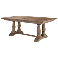 Salvaged Wood Double Trestle Dining Table 76""