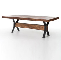 """Tyson Industrial Dining Table 72"""""""