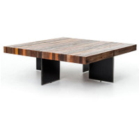 Bina Alec Industrial & Rustic Square Coffee Table